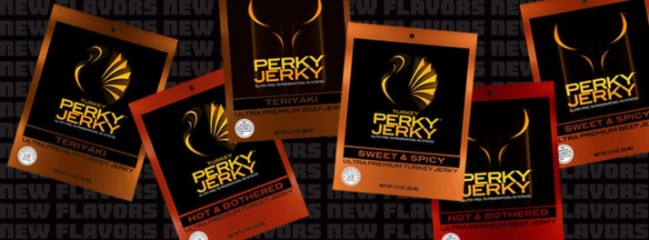 Perky Jerky New Flavors Banner