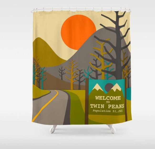 Twin Peaks Shower Curtain Scenic