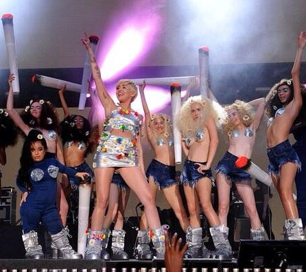 Miley Cyrus and Crew