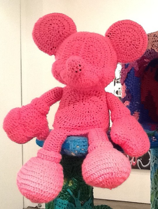 Pink Crocheted Mickey Mouse