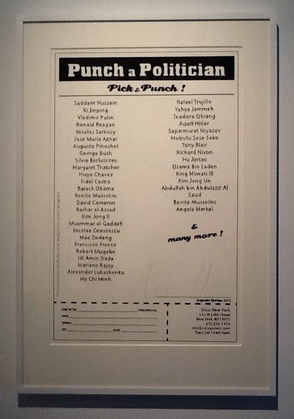 Punch a Poitician