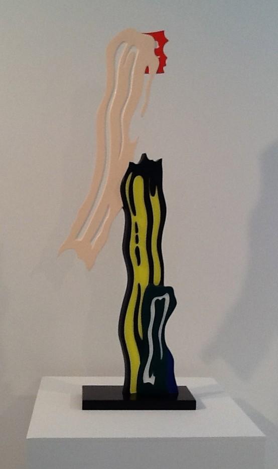 Lichtenstein Brush Stroke Sculpture