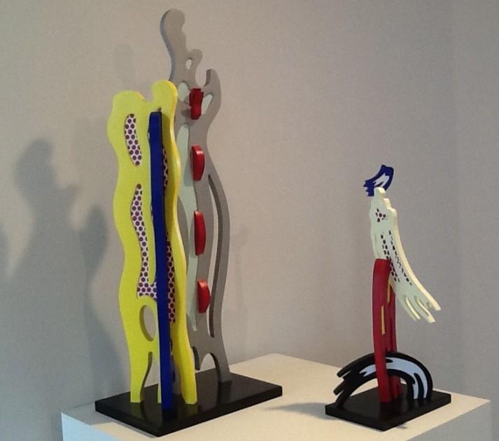 Lichtenstein Abstract and Brush Stroke Sculpture