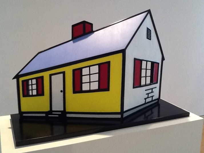 Maquette for House I, 1996 Painted and patinated