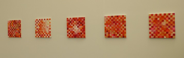 Row of Checkered Paintings