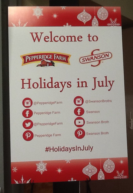 Holidays in July Signage