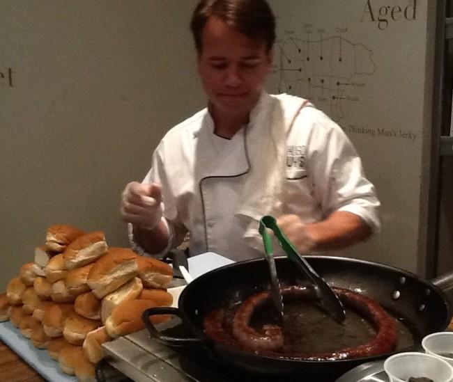 Chef Hugo Uys at Work