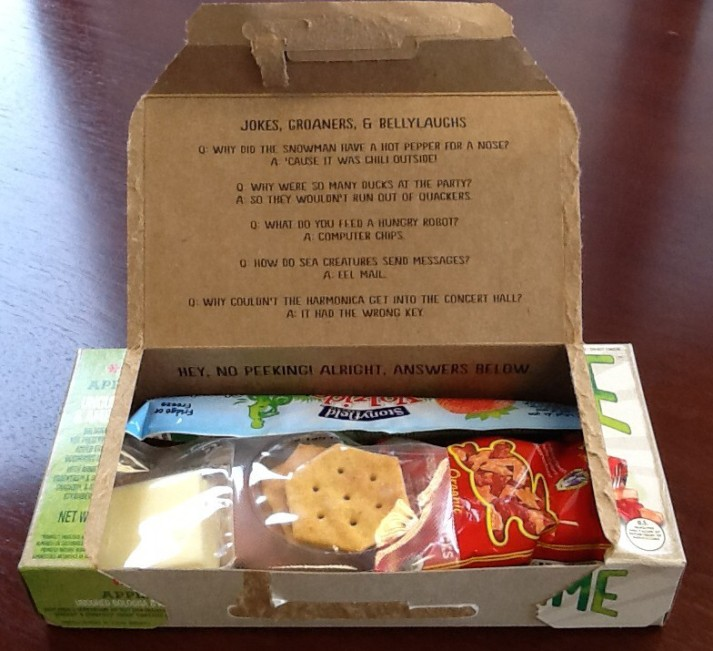 Half Time Lunch Contents Inside Box