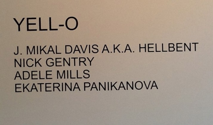 Yello Exhibit Sign