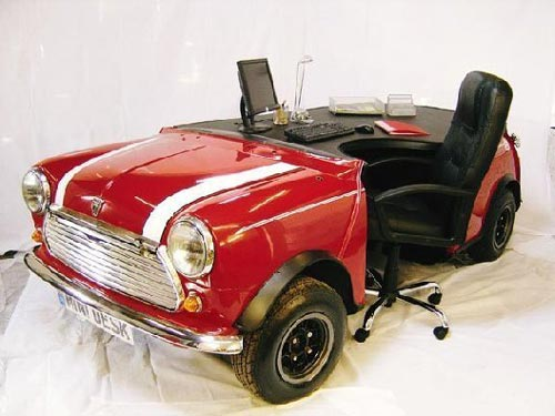 Mini Cooper Desk Behind