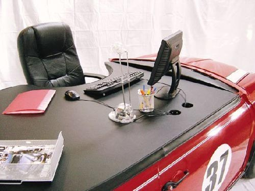 Mini Cooper Desk Top of Desk