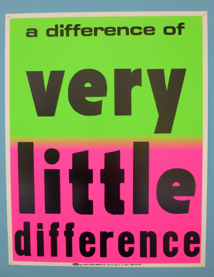 A Difference of Very Little Difference