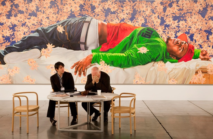Sean Kelly with Kehinde Wiley