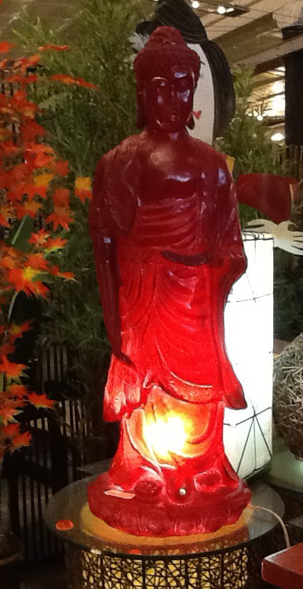 Red Buddha Lamp