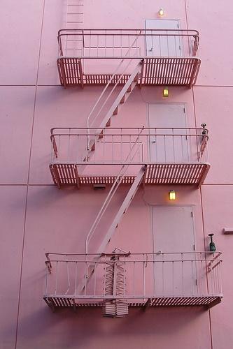 Pink Fire Escape
