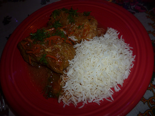 Stuffed Cabbage with Basmati Rice