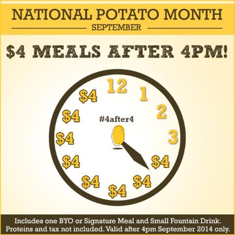 National Potato Month Deal