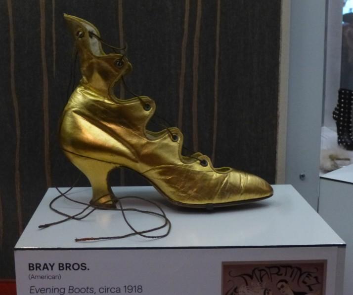 Gold Winged Slipper