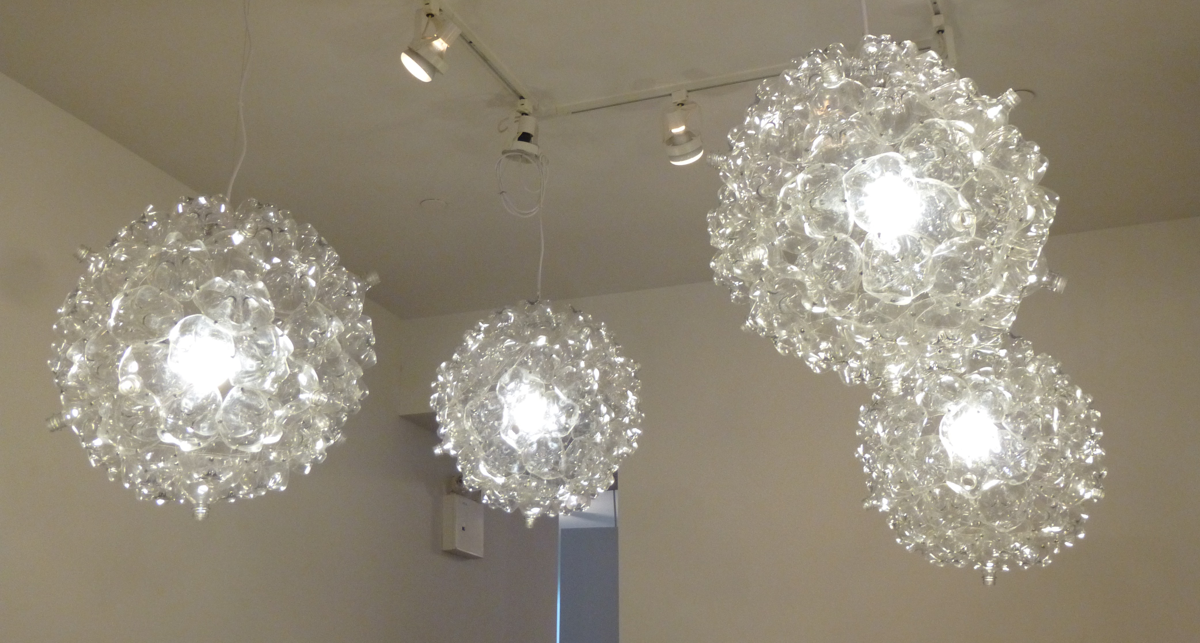 Pendant lighting from upcycled plastic soda bottles the worleygig - Recycled light fixtures ...