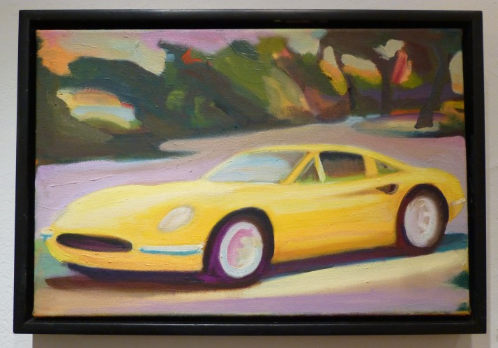 Stephen Lack Yellow Ferrari