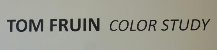 Tom Fruin Color Study Signage