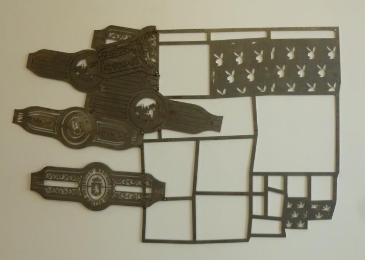 Tom Fruin Cigar Band Wall Scultpture