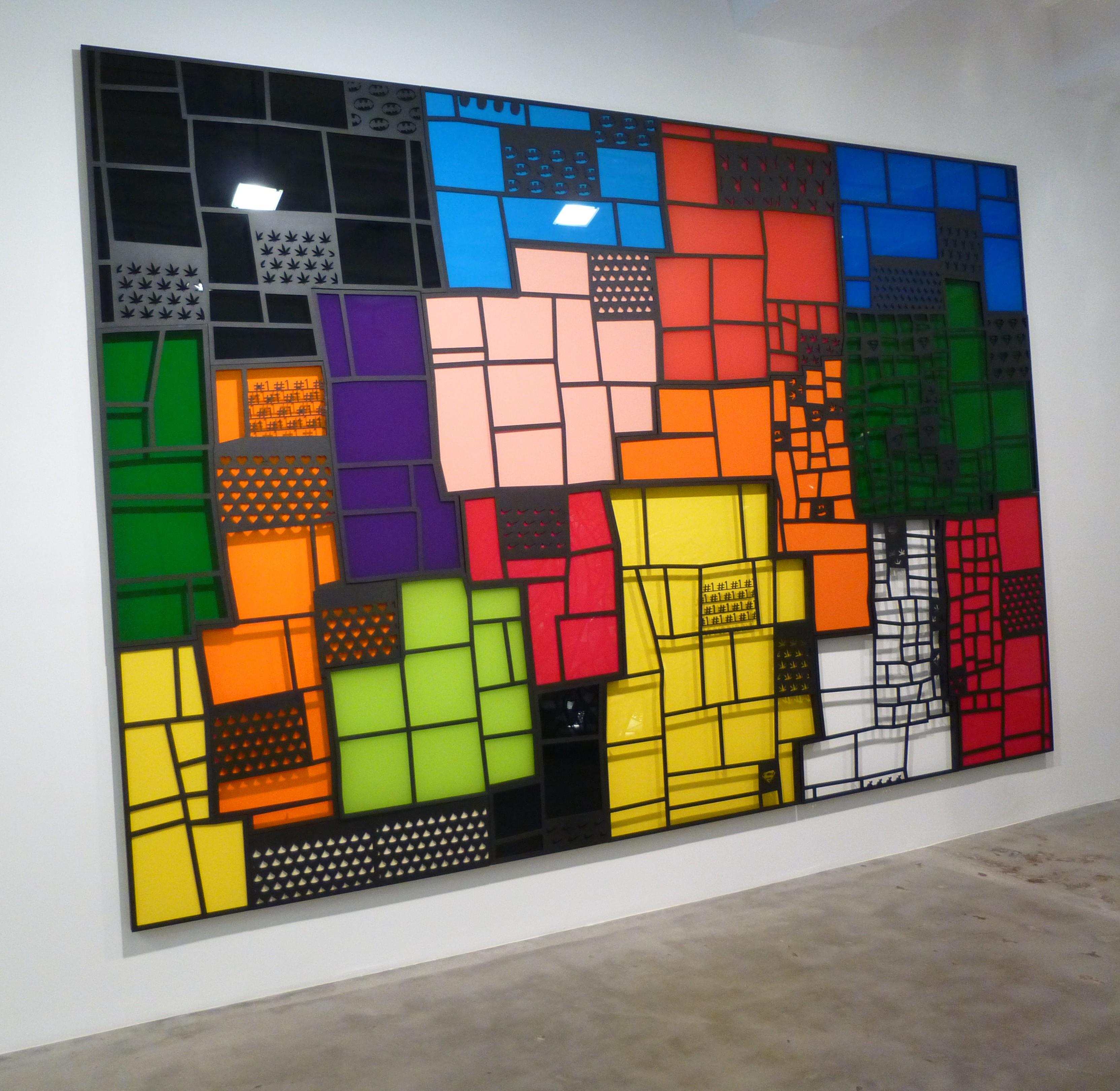 tom fruin wall quilt - Plexiglas Color