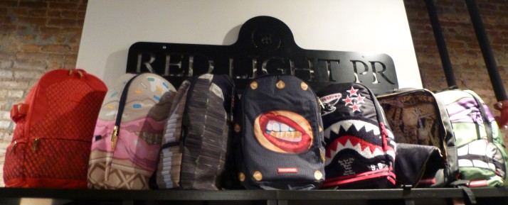 Sprayground Backpack Display