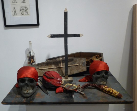 Alter with Pirate Skulls