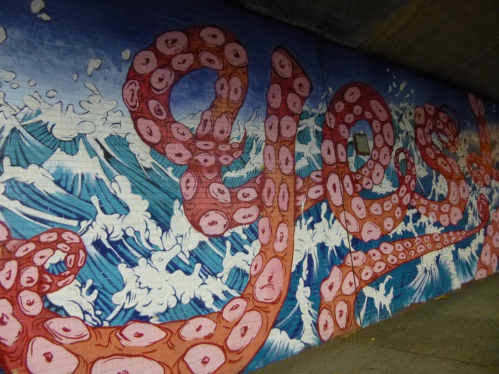 Yes Octopus Mural Detail