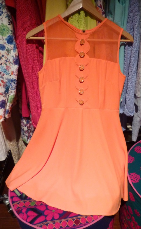Apricot Short Dress By Darling