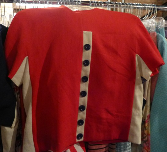 Red and White Color Block Top By Alice's Pig