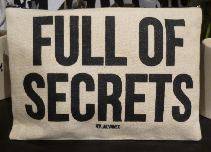 Full of Secrets Zip Bag By Jac Vanek