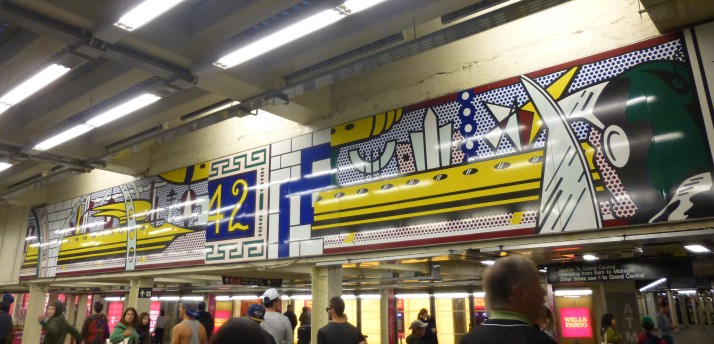 Roy Lichtenstein Subway Mural