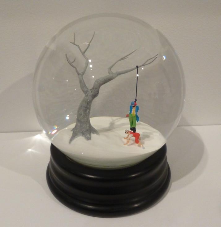 Hanging Clown Snow Globe