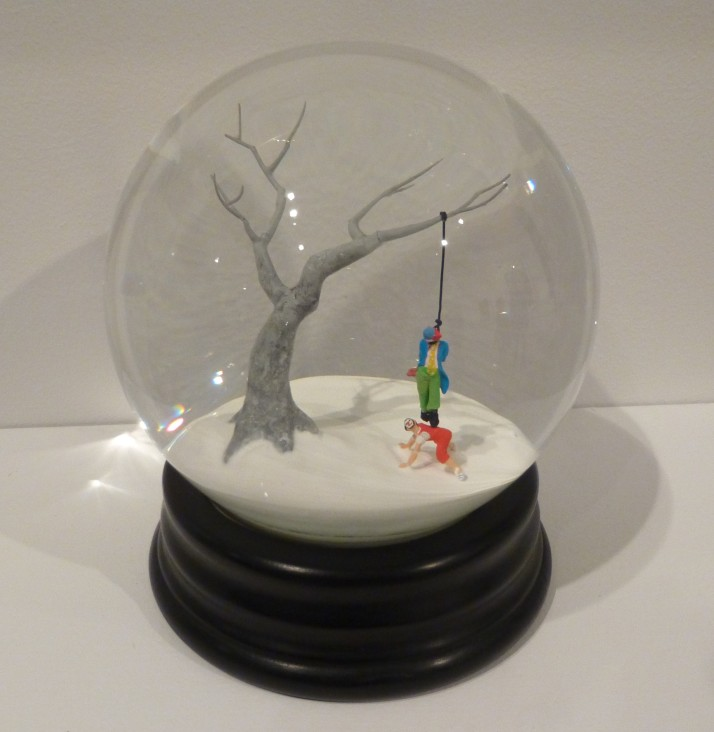 Hanging Clown Snow Globe