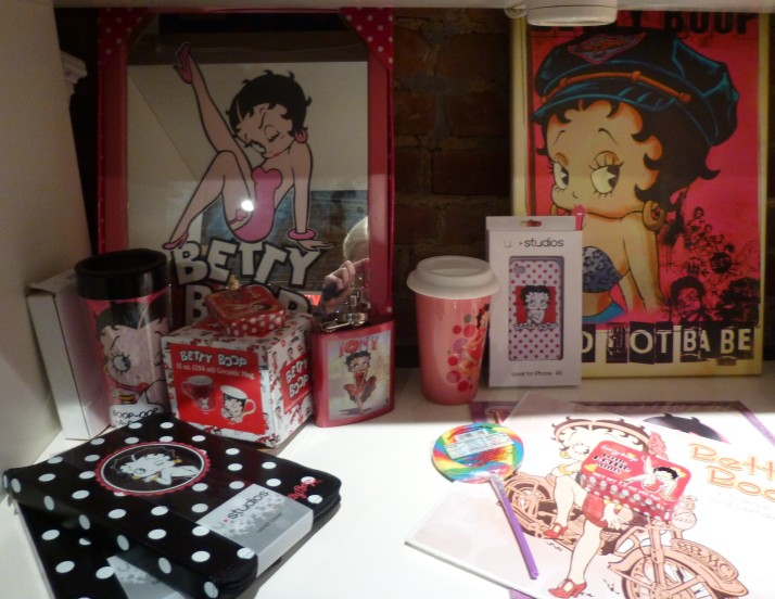 Betty Boop Merchandise Shelf