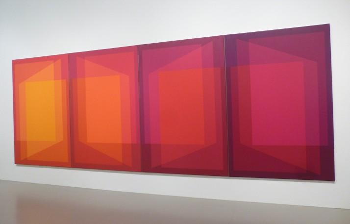 Julian Stanczak Four Panels