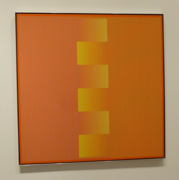 Julian Stanczak Orange and Yellow