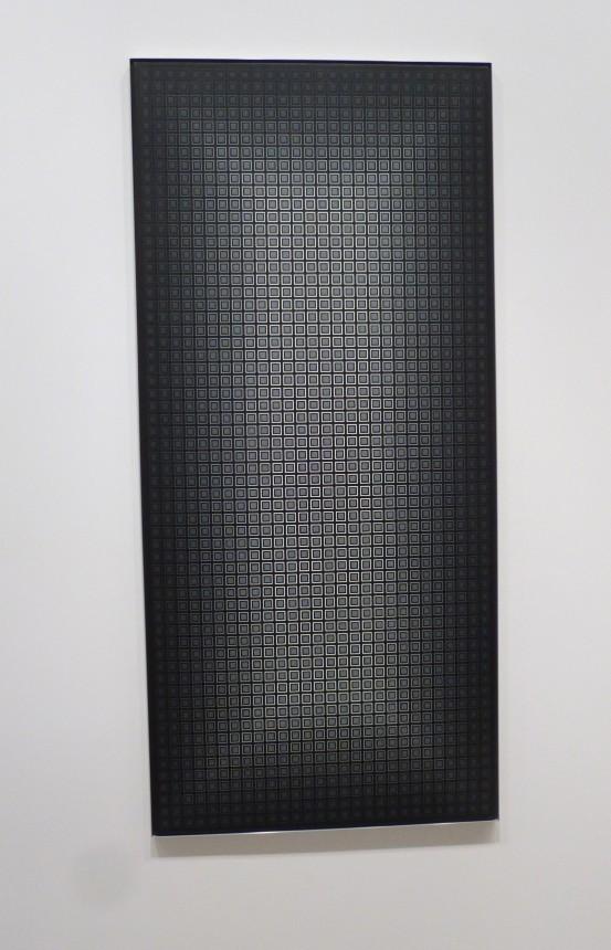 Julian Stanczak Black Grid