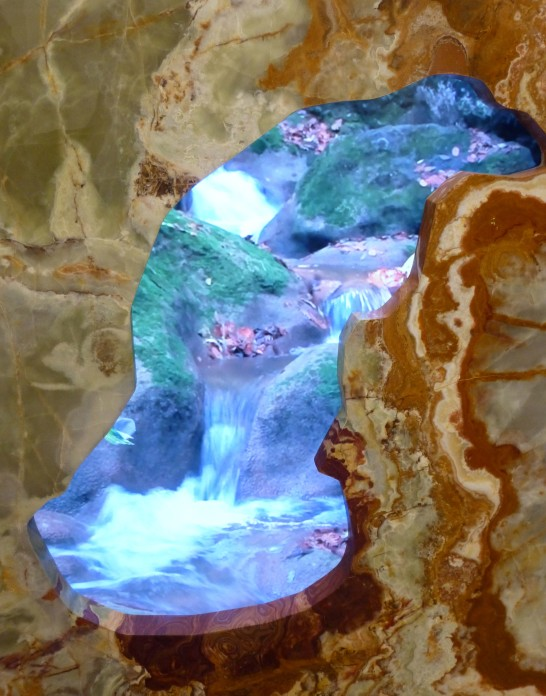 Waterfall In a Slab of Marble