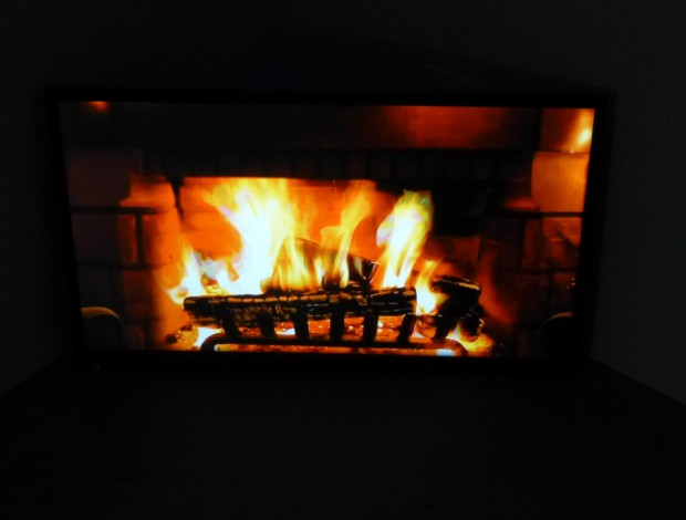 Video Monitor Fire Place