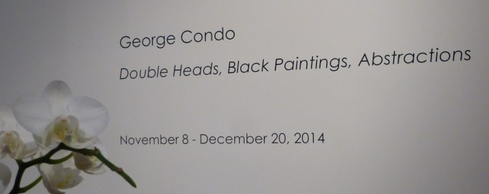 George Condo Signage with Orchid