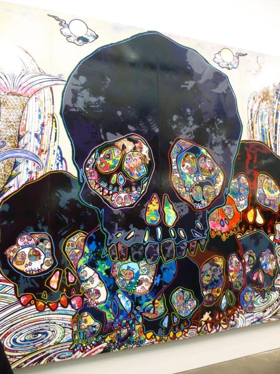 Black Skull Cluster Mural Detail