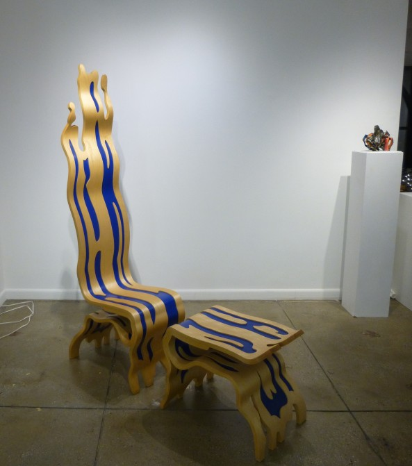 ROY LICHTENSTEIN Brushstroke Chair & Ottoman