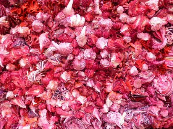 Pink Paint Dollops Detail