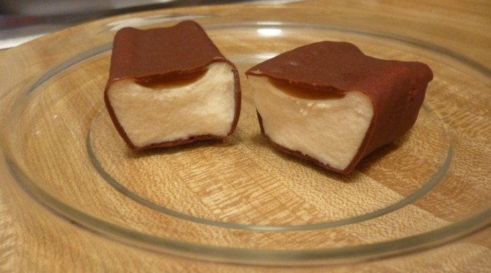 Salted Caramel Ice Cream Candy Bar Inside View