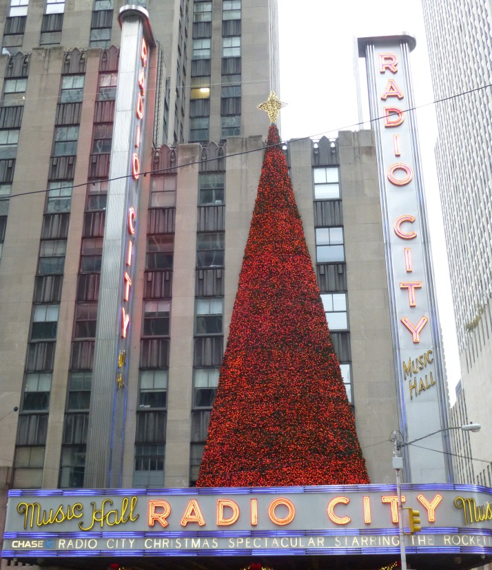 Radio City Tree and Marquee