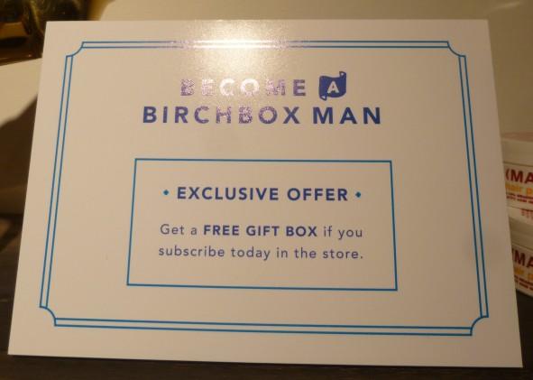 Birchbox Man Promotion