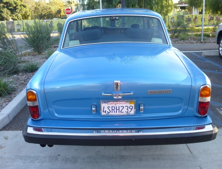 Blue Rolls Royce Rear